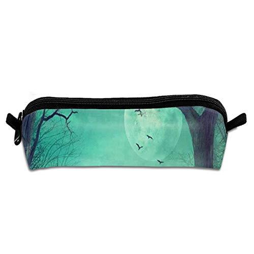 MISSMORN Pencil Case Bag Halloween Spooky Forest Dead