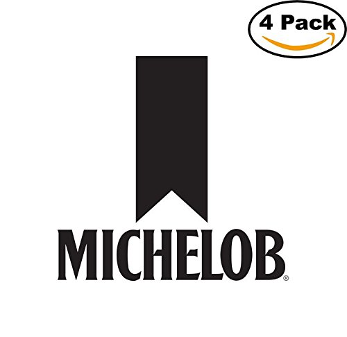 michelob-2-beer-logo-alcohol-4-vinyl-stickers-decal-bumper-window-bar-wall-4x4