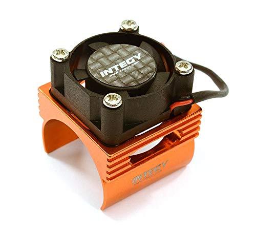 - Integy RC Model Hop-ups C28369ORANGE Brushless Motor Heatsink+Cooling Fan 17,000rpm for 1/16 E-Revo VXL & Slash VXL