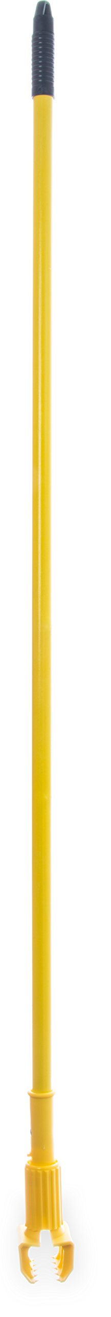 Carlisle 36947504 Commercial Jaw Clamp Fiberglass Wet Mop Handle, 60'', Yellow