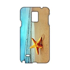 Angl 3D Case Cover Starfish Sea Beach Phone Case for Samsung Galaxy Note4