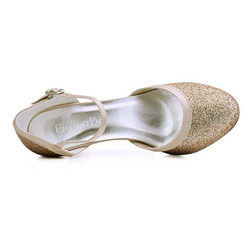 Scarpe Gold scarpe chiuse donna sposa ElegantPark HC1510 da tacco con 6Rnn7HqFw