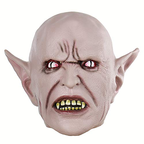 BESTOYARD Halloween Cosplay Mask Creepy Terrifying Toothy Elf Mask -