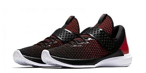 Jordan Mens Trainer 3 Black Black Gym RED White Size 11