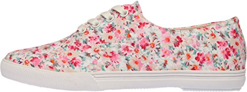 SNRD - 109 eleganten floralem Muster, Damen Sneakers Rose