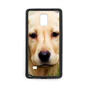 JFLIFE Cute Dog Phone Case for samsung galaxy note4 Black Shell Phone [Pattern-1]