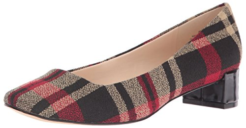 Nine West Women's Olencia Fabric Dress Pump, Black Plaid, 7.5 M (Plaid Shoes)