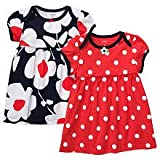 Carter's Girls Cotton Dresses 2 Pack - Red/Navy (3 Months)