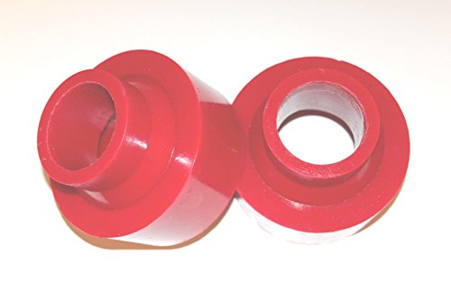 """RTZ - Jeep Grand Cherokee WJ 2"""" Front Polyurethane Coil Spring Spacers Leveling Lift Kit 2wd Red"""