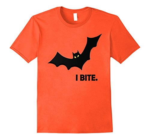 Mens I Bite Vampire Bat Halloween Funny Gift T-Shirt XL (Halloween Orange Tips)