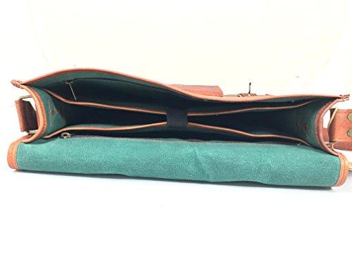 de a hecho RusticTown de del bolso la cuero 15 cuero cuero de Mensajero mano bolso pulgadas portátil de del cartera de d1YEwxg5qc