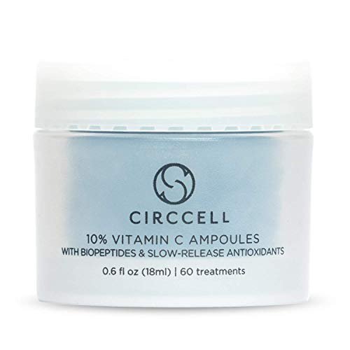 CIRCCELL Vitamin C Ampoules - Anti-Aging Vitamin C Formula - Good for All Skin Types - 60 count - Vegan & Cruelty Free (Best Vitamins For Good Skin)