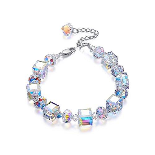 "Lights Link Diamond Tennis Bracelet - CDE Bracelet""A Little Romance""Adjustable 7"