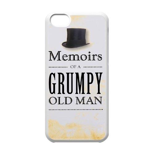 P9W58 Grumpy Old Git cadeau d'anniversaire S5H4CZ cas d'coque iPhone de téléphone cellulaire 5c couvercle coque blanche WZ7INT3UQ