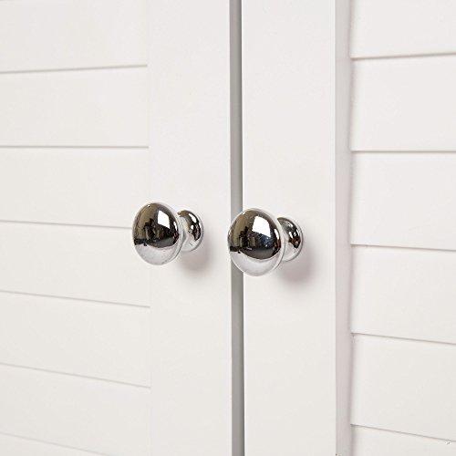 Glitzhome 32 Inch H Wooden Floor Storage Cabinet