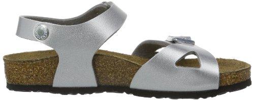 Birkenstock Rio - Sandalias de vestir para niñas Plateado