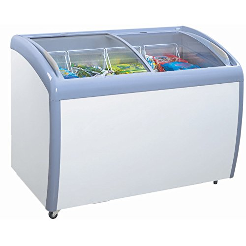 Atosa MMF9109 Angle Curved Top Chest Freezer 9 Cubic Feet by Atosa