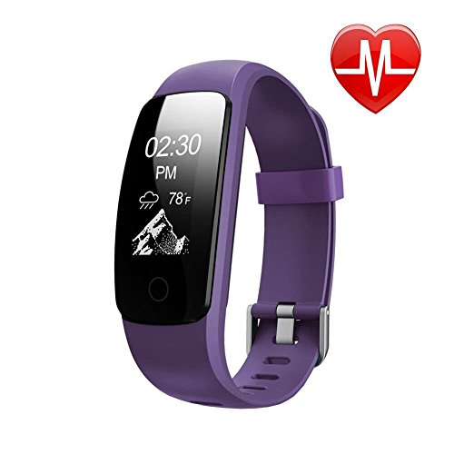 Fitness Tracker HR, Letscom Activity Tracker with Wrist Based Heart Rate Monitor, IP67 Waterproof Smart Bracelet with Step Tracker Sleep Monitor Calorie Counter Pedometer Watch for Android and iOS