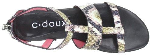 C. Doux 6061 Damen Sandalen/Fashion-Sandalen Beige (C/404, negro, multicolor)