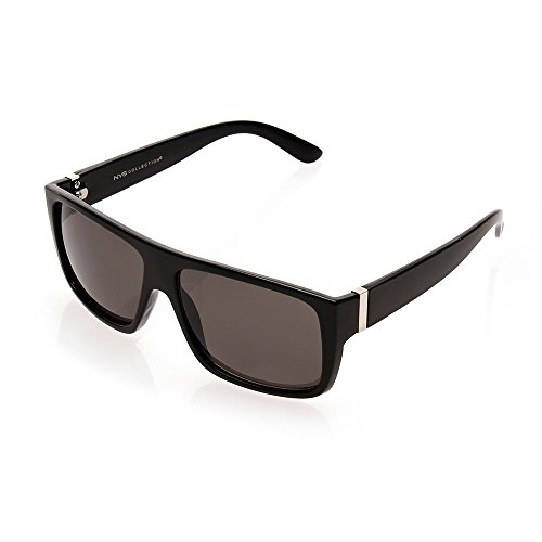 NYS Collection Chambers Street Urban Sunglasses, Black Frame/Smoke - Nys Sunglasses Collection