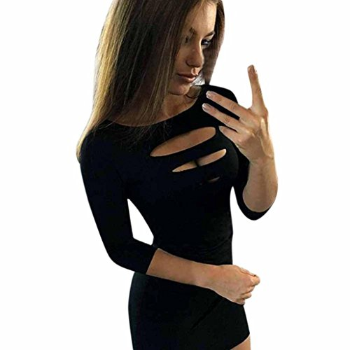 Women Sexy Women 3/4 Sleeve Dress Ladeis Bodycon Cocktail Pencil Mini Dress Evening Party Dresses (XL, (3/4 Sleeve Mini Sweater)