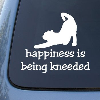 HAPPINESS BEING KNEEDED Decal Sticker
