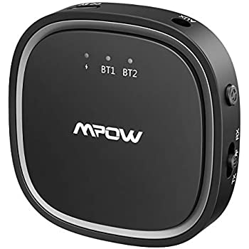 mpow bluetooth 5 0 receiver transmitter 2 in 1. Black Bedroom Furniture Sets. Home Design Ideas