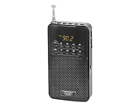 Trevi 730 - Radio digital FM portátil con batería recargable y entrada para auriculares: Amazon.es: Electrónica