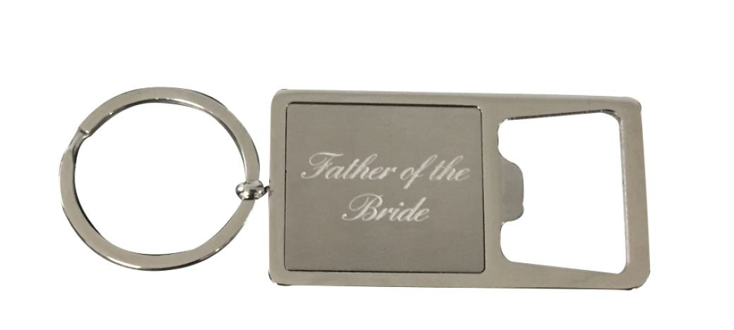 Bottle Opener Keychain Brides Father Keychain Brides Father Gift Father of the Bride Gift Perfect Gift for Father of the Bride Infinity Collection