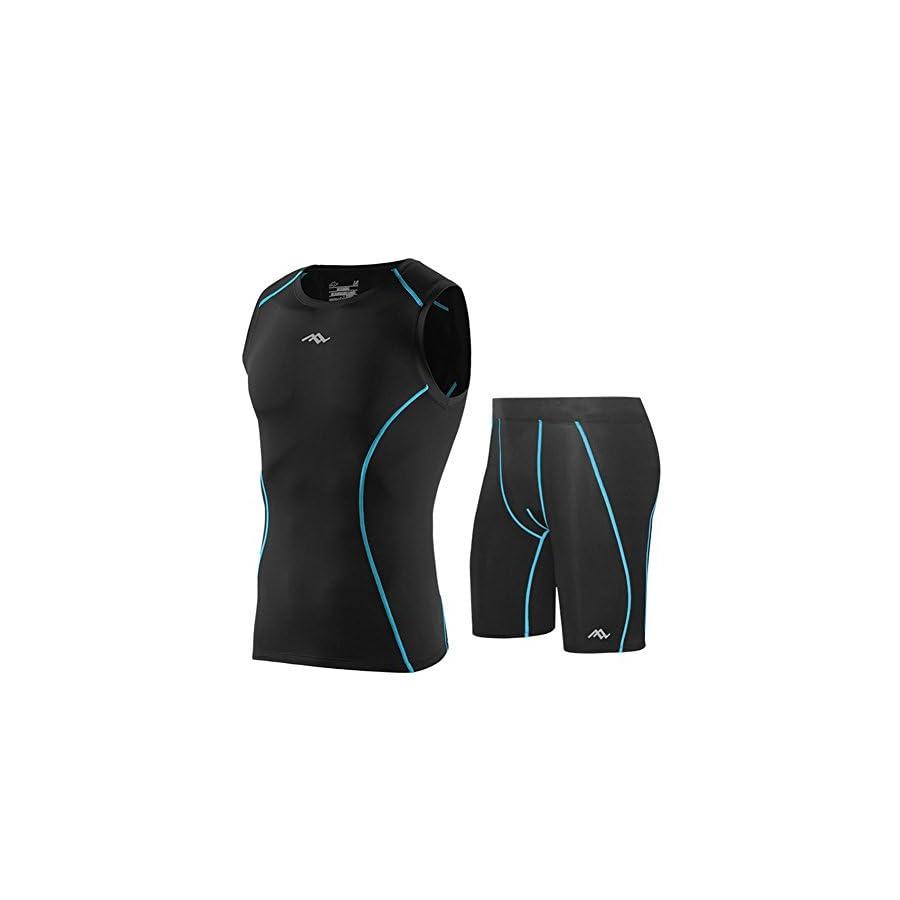 MADHERO Skin Tight Compression Suits Mens Performance Vest Shorts Shirts Pants