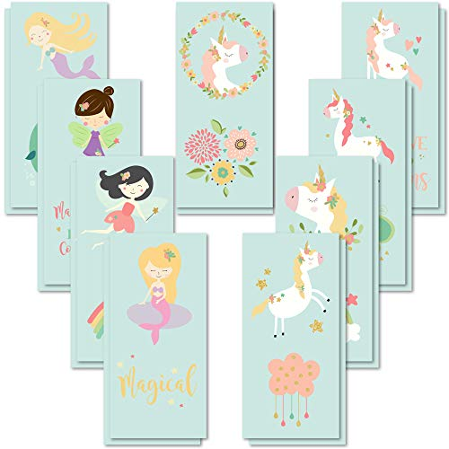 PapaKit Unicorn and Friends 36 Temporary Tattoos Set | 18 Individually Wrapped Sheets | Non-Toxic FDA Approved Ingredients Safe Removable | Girls Children's Birthday Party Favor Supplies …]()