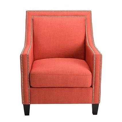 Phenomenal Amazon Com 251 First Linden Coral And Birch Arm Chair Inzonedesignstudio Interior Chair Design Inzonedesignstudiocom
