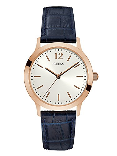 GUESS-Mens-Quartz-Stainless-Steel-and-Leather-Casual-Watch-ColorBlue-Model-U0922G7