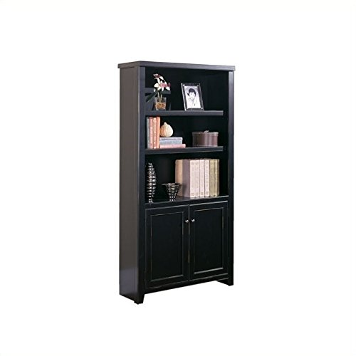 Martin Furniture Tribeca Loft Black Library Bookcase - Fully Assembled