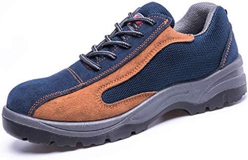 安全靴 男性のための作業安全靴、スチールの足は、絶縁アンチスキッド通気性耐摩耗アンチスマッシング工場についてアンチピアス、労働保険の靴キャップ (Color : C, Size : 43)