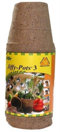 Plantation Products Jp310 10-Pack 3-Inch Round Pot Peat Pots by Plantation Prod.