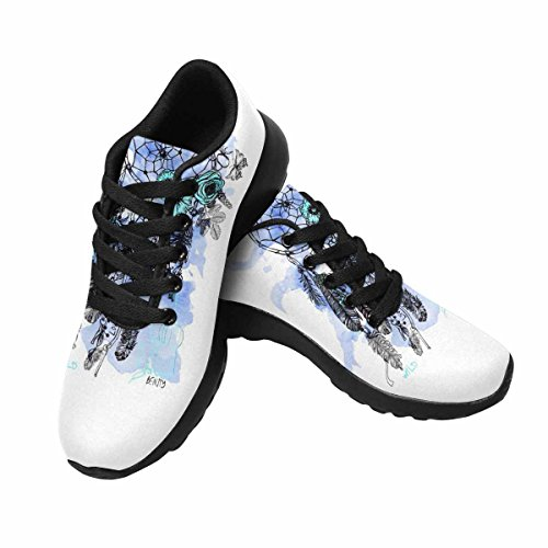 Interesprint Mujeres Trail Running Zapatillas Jogging Ligero Deportes Walking Athletic Sneakers Indian Dream Catcher In Sketch Style Multi 1