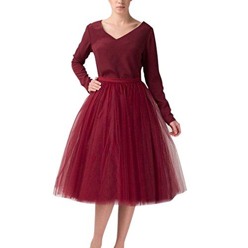 Tulle de vin Mariage au Line rouge mariage A courte Longueur Tutu Femme genou Jupe Lady zqrYfnzv