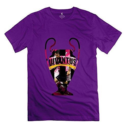 C-DIY Men's T-shirts High Quality Juventus Football Club Spa XL Purple