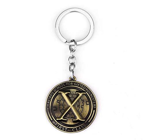 TUDUDU Marvel Comics X-Men Xmen X Logotipo Llavero Llavero Metal ...