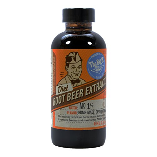 Hires Big H Diet Root Beer Extract, Make Your Own Root Beer - 1 Pack (The Big H Root Beer Extract compare prices)