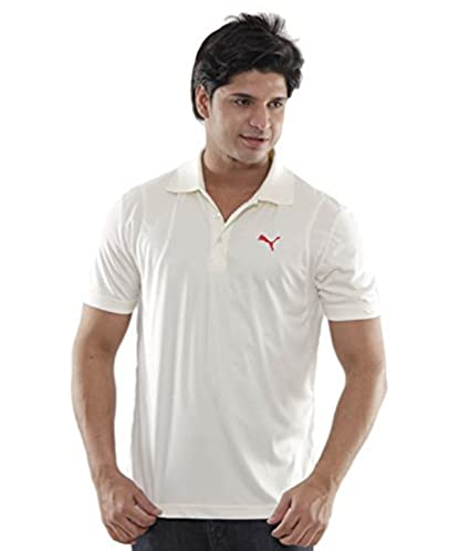 38bf38b2 Buy Puma Team S/S Polo Cricket Shirt Size XL (Cream) Online at Low Prices  in India - Amazon.in