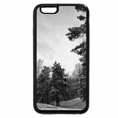 iPhone 6S Plus Case, iPhone 6 Plus Case (Black & White) - Winter and sunset
