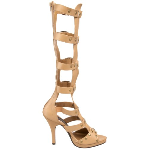 Tan Women's Gladiator Sandal Polyurethane Funtasma Pleaser by XqxOEO