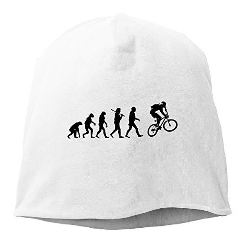 (Hip-Hop Knitted Hat for Mens Womens Motocross Evolution Unisex Cuffed Plain Skull Knit Hat Cap Head)