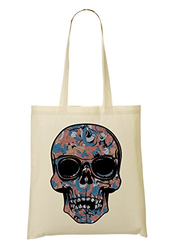 à Sac Skull Flowers Sac Blue tout Fourre Orange provisions Red w71BF