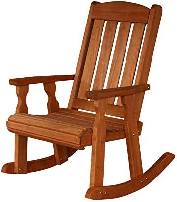 Amish Heavy Duty 600 Lb Mission Pressure Treated Outdoor Rocking Chairs
