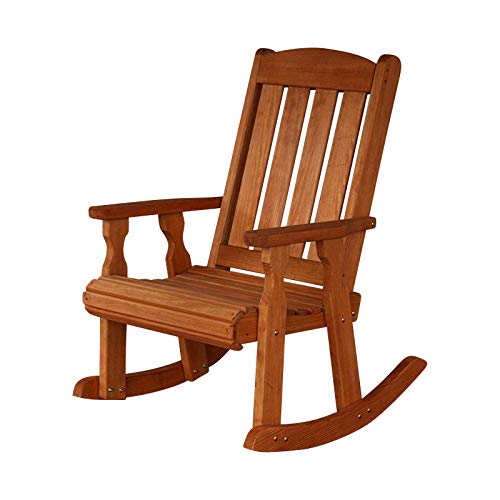 (Amish Heavy Duty 600 Lb Mission Pressure Treated Rocking Chair (Cedar Stain) )
