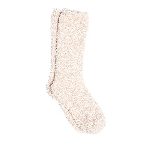 Barefoot Dreams Cozychic Women's Heathered Socks (DUSTY ROSE / WHITE)