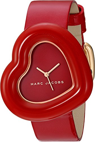 Marc by Marc Jacobs Women's 'The Heart' Quartz Stainless Steel and Leather Casual Watch, Color:Red (Model: (Marc Jacobs Red Leather)